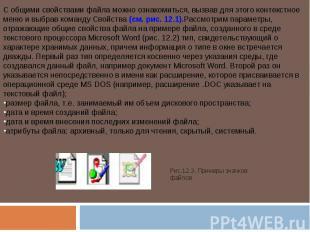 С общими свойствами файла можно ознакомиться, вызвав для этого контекстное меню