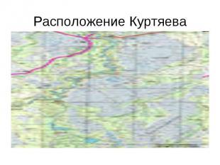 Расположение Куртяева