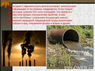 Территория Ставропольского края испытывает значительную трансформацию естественн