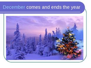 December comes and ends the year