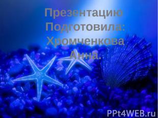 Презентацию Подготовила:Хромченкова Анна.