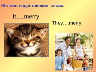 Вставь недостающие слова.It.....merry.They….merry.