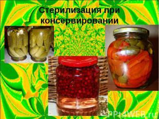 Стерилизация при консервировании