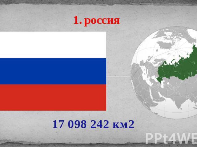 1. россия 17 098 242 км2