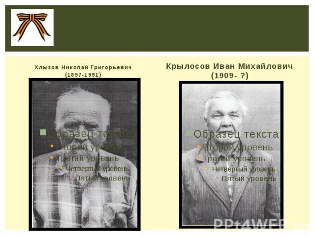 Хлызов Николай Григорьевич (1897-1991)