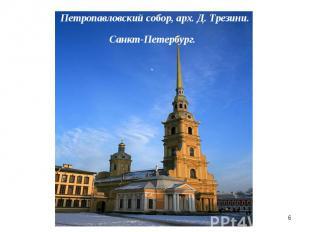 Петропавловский собор, арх. Д. Трезини.Санкт-Петербург.