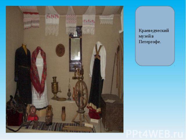 Краеведческий музей в Петергофе.