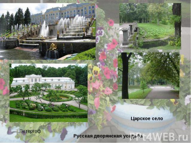 Петергоф Царское селоРусская дворянская усадьба