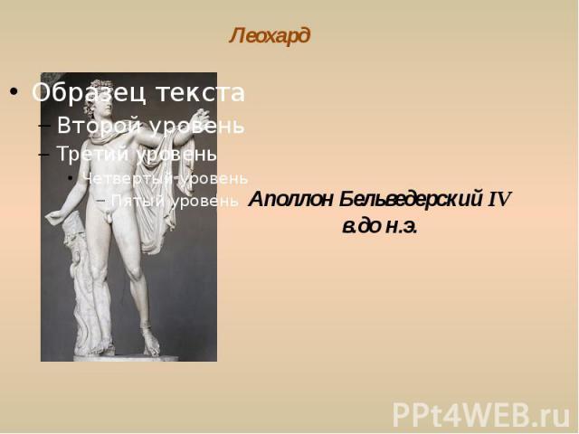 Леохард Аполлон Бельведерский IV в.до н.э.