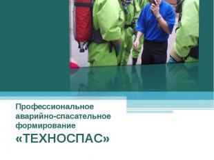 Профессиональное аварийно-спасательное формирование «ТЕХНОСПАС»