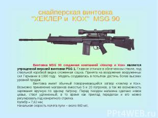 """снайперская винтовка""""ХЕКЛЕР и КОХ"""" MSG 90Винтовка MSG 90 созданная компанией «Хе"""