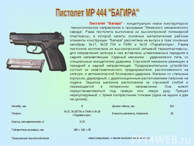 Пистолет МР 444