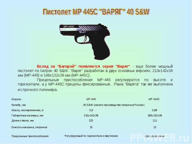 Пистолет МР 445С