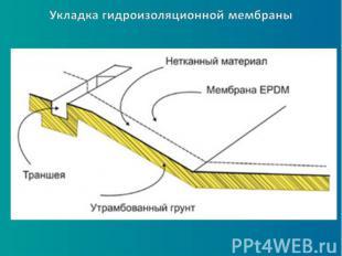 Укладка гидроизоляционной мембраны