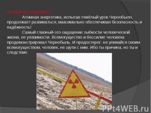 УРОКИ НА БУДУЩЕЕ: Атомная энергетика, испытав тяжёлый урок Чернобыля, продолжает