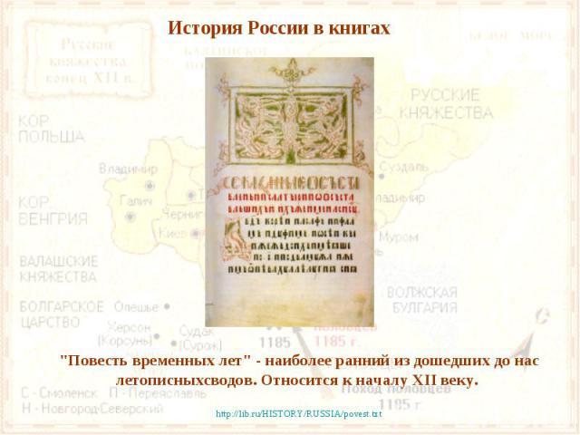 История России в книгах