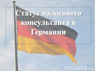 Статус налогового консультанта в Германии