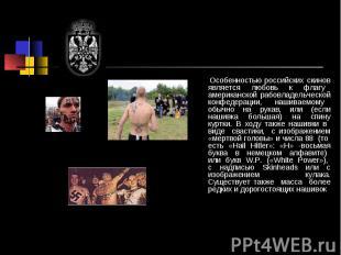 Особенностью российских скинов является любовь к флагу американской рабовладельч
