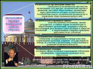 отечественнаяструктураполитической системыобществаПолитическая организация общес