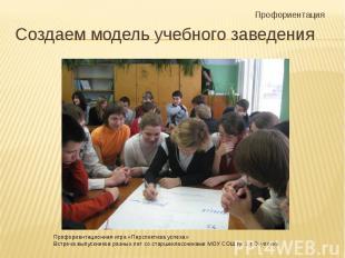 Создаем модель учебного заведения Профориентационная игра «Перспектива успеха»Вс
