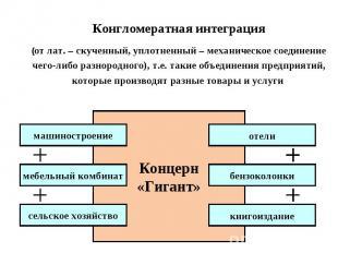 Конгломератная интеграция(от лат. – скученный, уплотненный – механическое соедин