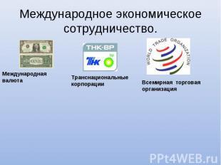 Международное экономическое сотрудничество. Международная валютаТранснациональны