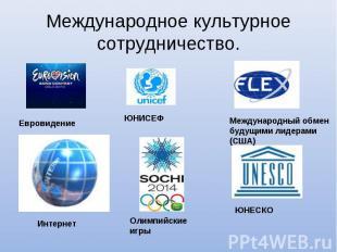Международное культурное сотрудничество.