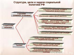 Структура, цели и задачи социальной политики РФ
