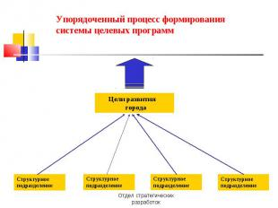 Упорядоченный процесс формирования системы целевых программ
