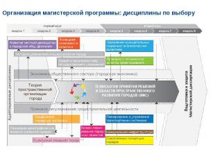 Организация магистерской программы: дисциплины по выбору