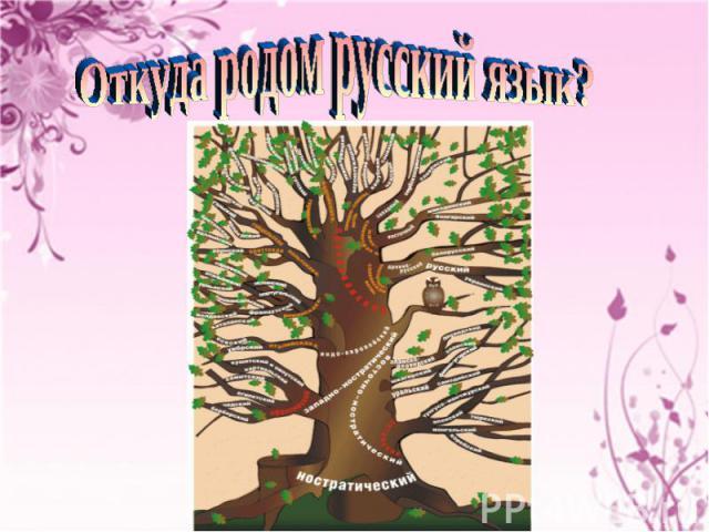 Откуда родом русский язык?