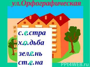 ул.Орфографическая
