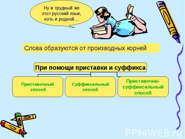 Ну и трудный же этот русский язык, хоть и родной…