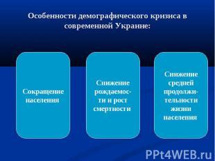 Особенности демографического кризиса в современной Украине:Сокращение населения