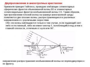 Применяя принцип Гюйгенса, проведем огибающие элементарных сферических фронтов о
