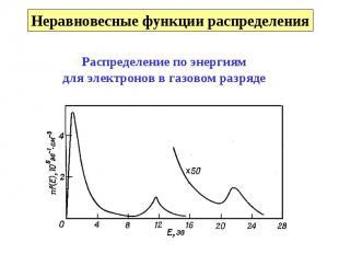 Неравновесные функции распределения Распределение по энергиямдля электронов в га