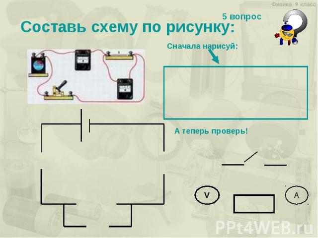 Составь схему по рисунку: