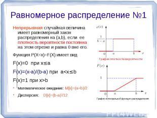 Непрерывная случайная величина имеет равномерный закон распределения на (а,b), е