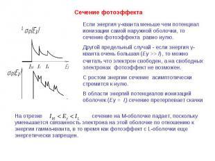 Если энергия γ-кванта меньше чем потенциал ионизации самой наружной оболочки, то