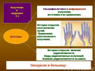 Излучения в медицине4 ч Доклады Ультрафиолетовое и инфракрасное излучения, источ
