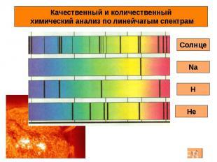 Качественный и количественный химический анализ по линейчатым спектрам