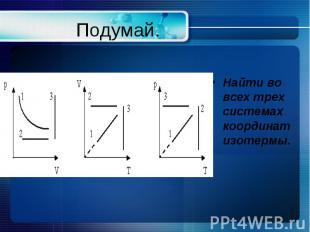 Подумай. Найти во всех трех системах координат изотермы.