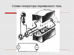 Схема генератора переменного тока.