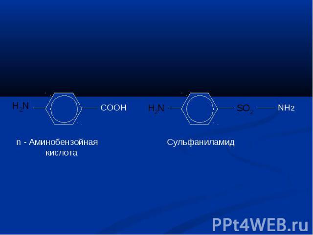 Аминобензойная кислота Сульфаниламид