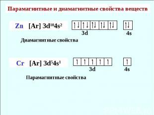 Парамагнитные и диамагнитные свойства веществ Диамагнитные свойства Парамагнитны