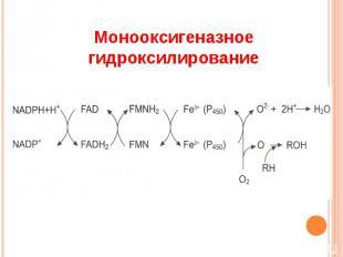 Монооксигеназное гидроксилирование