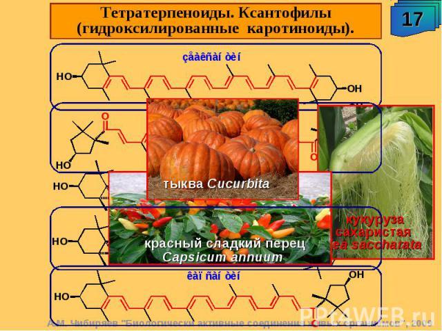 Тетратерпеноиды. Ксантофилы (гидроксилированные каротиноиды).