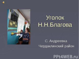 Уголок Н.Н.Благова С. Андреевка Чердаклинский район