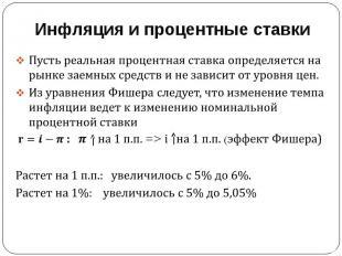 Инфляция и процентные ставки