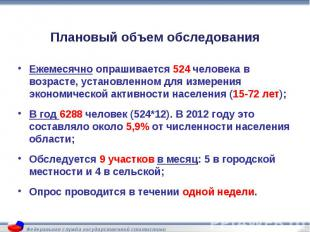 Ежемесячно опрашивается 524 человека в возрасте, установленном для измерения эко
